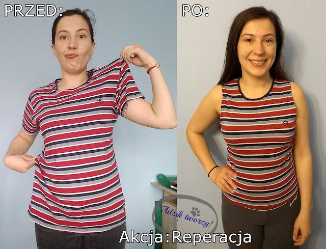 jak zmniejszyć bluzkę diy