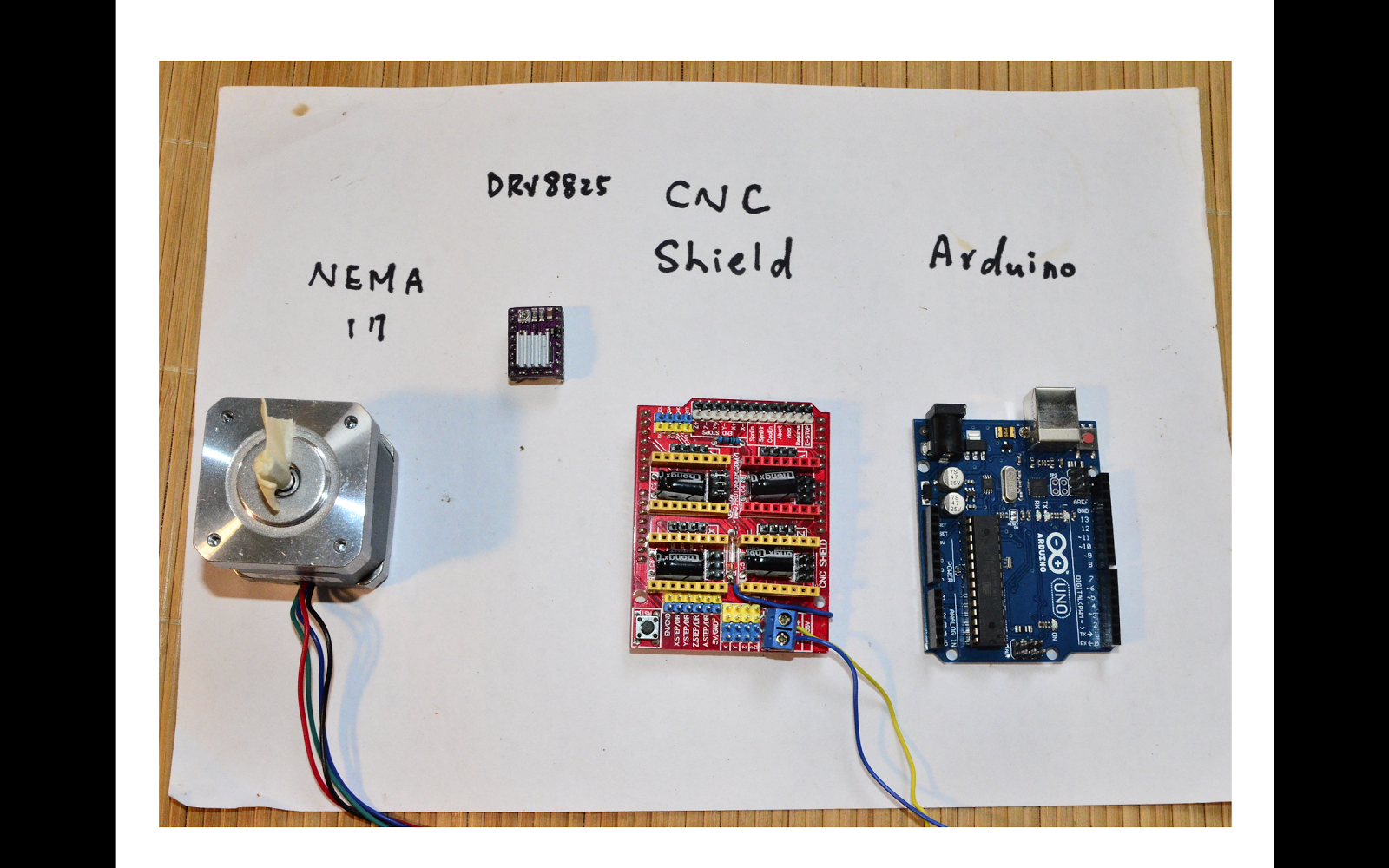 hight resolution of cnc shield is quite useful for stepper motor driving here i demonstrated how to use simple arduino code to drive stepper motor with drv8825