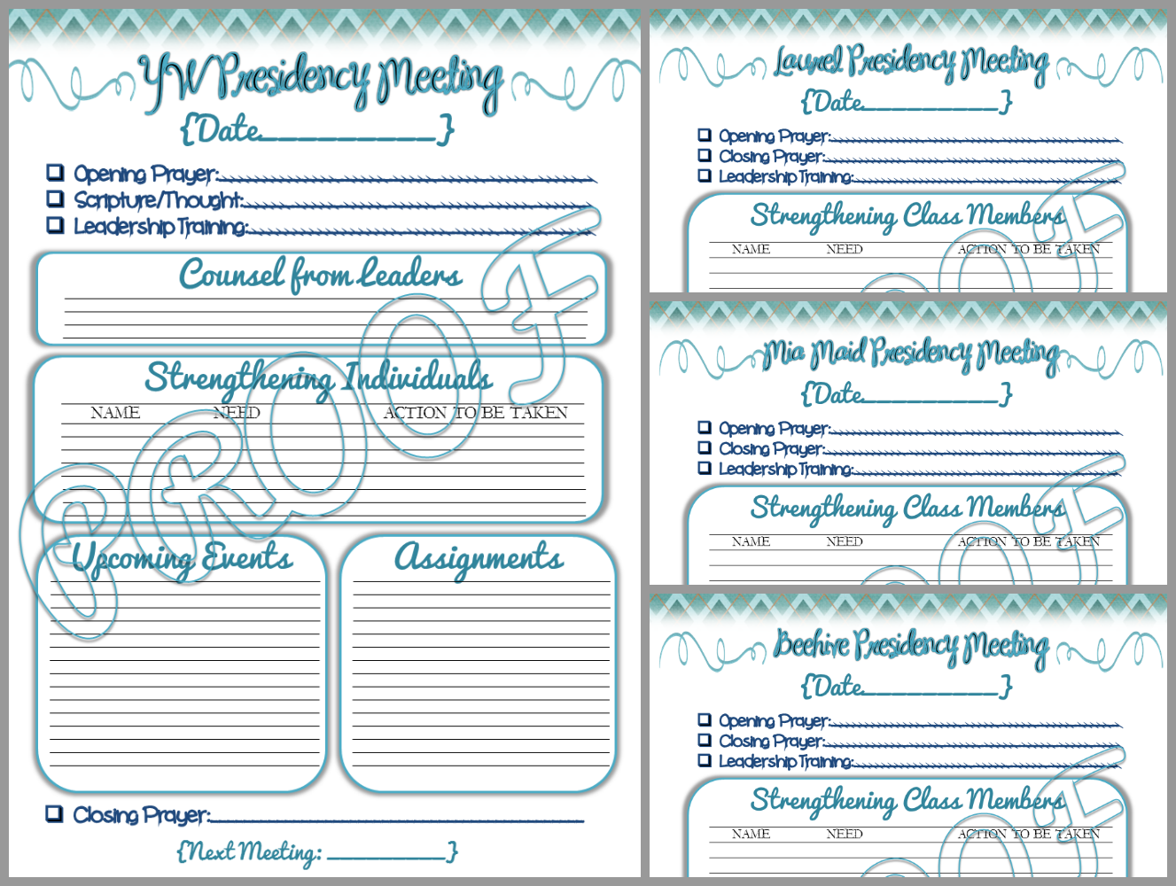 Digital Scrapbooking Made Easy: - 2014 YW Presidency Planner