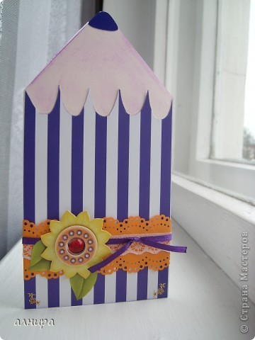 Как сделать открытку карандаш своими руками
