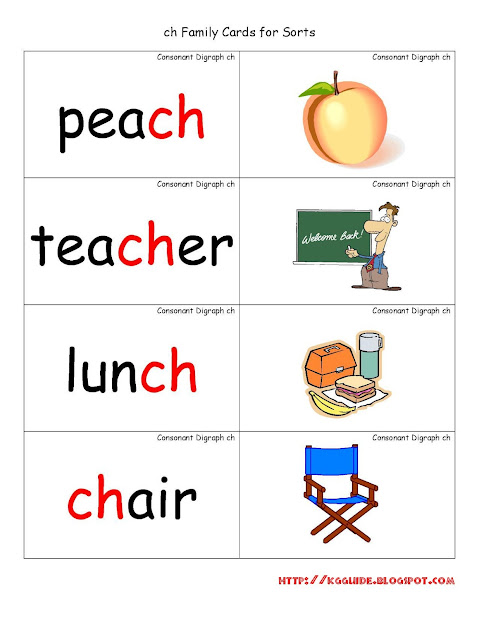 """ch"" Words Worksheet Kindergarten Students"