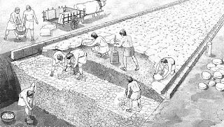 Ilustração construção hipotética da Appia Antiga