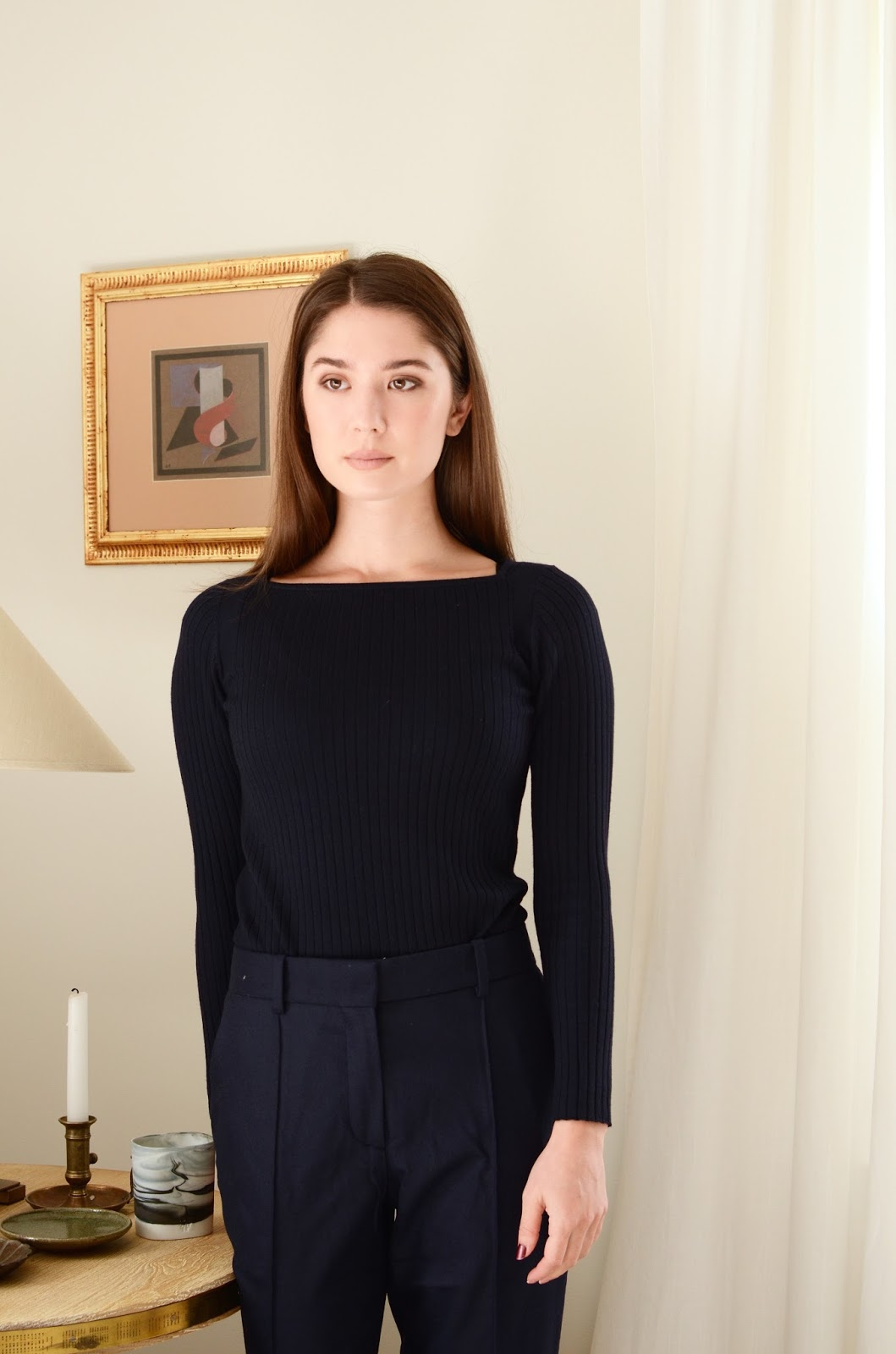 Everlane Luxe Ribbed Wool Boatneck Review Photos Sizing Information