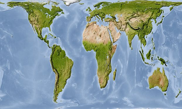 خريطة العالم الصحيحة