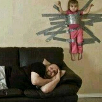 Hilarious Parenting Gaffer Tape Child Image