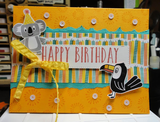 kids birthday card | birthday bonanza | stampin' up! | animal card | | perennial birthday | Nicole Steele The Joyful Stamper