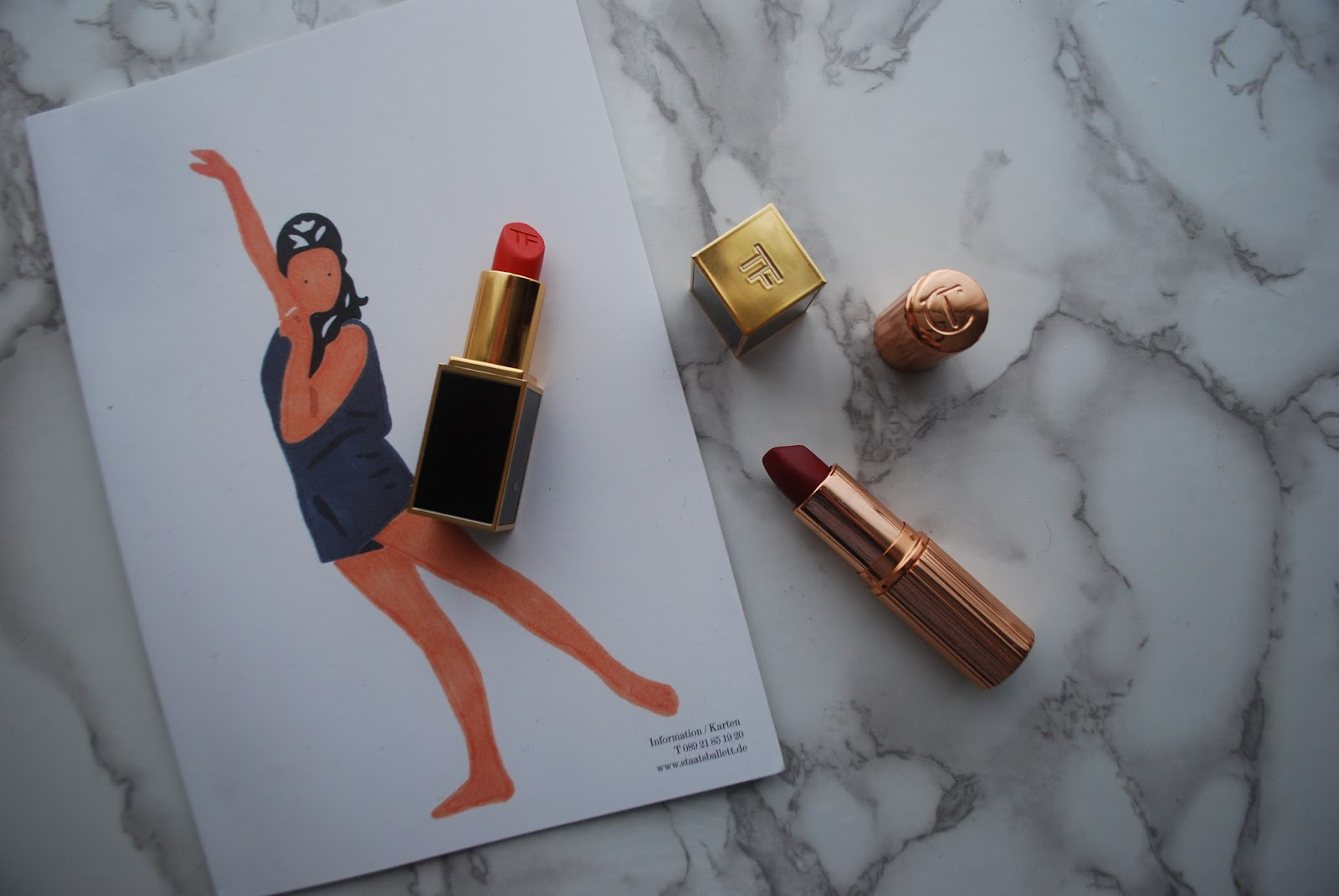 Tom Ford Wild Ginger Charlotte Tilbury Red Carpet Red lipstick swatches