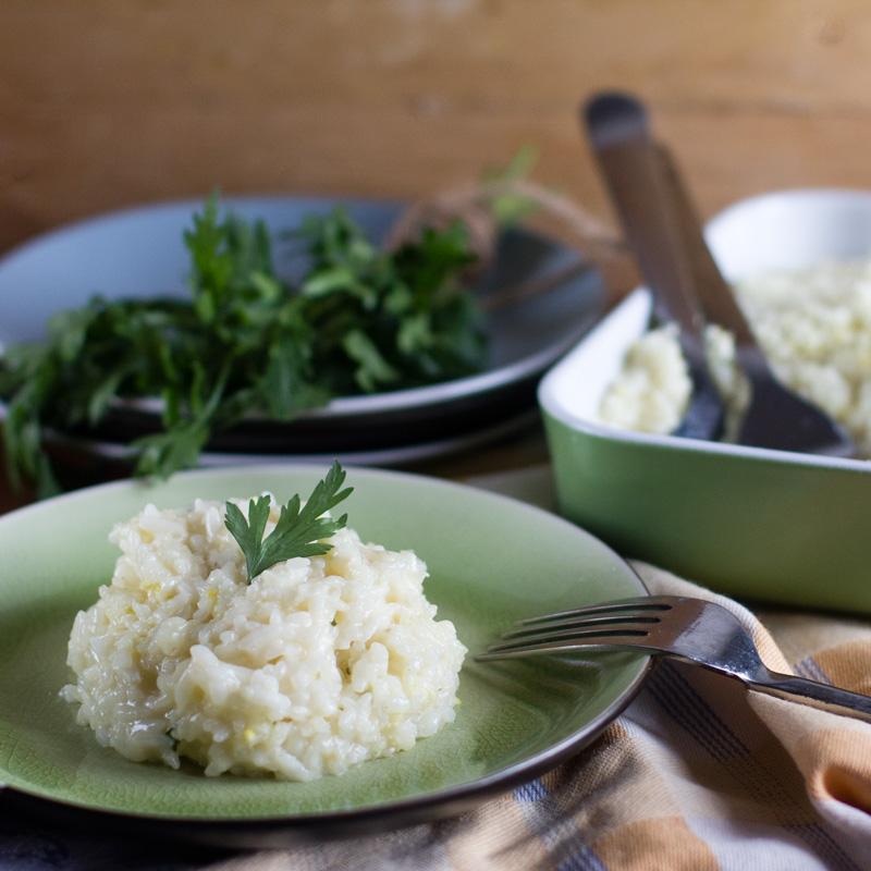 receta de risotto al limón con thermomix. receta italiana