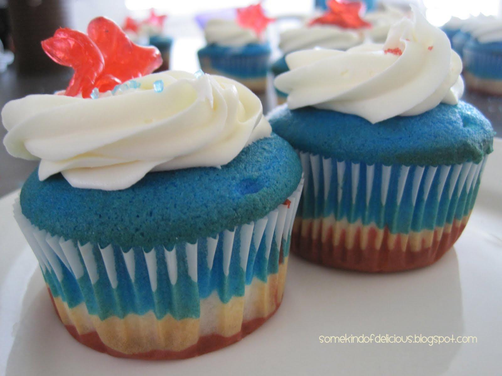 Some Kind Of Delicious: 4th Of July Cupcakes