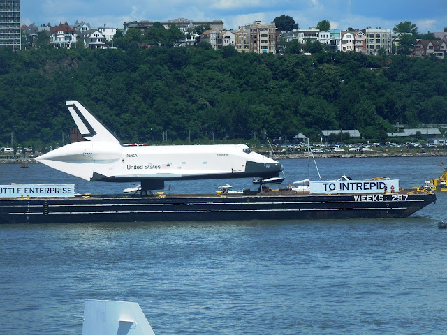 "SPACE SHUTTLE ""ENTERPRISE"" on barge"
