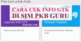 Cara Cek Info GTK dan SKTP di SIM PKB dejarfa.com