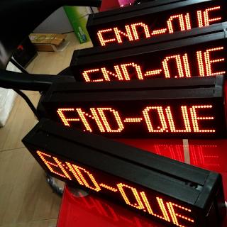 Display counter mesin antrian END Que