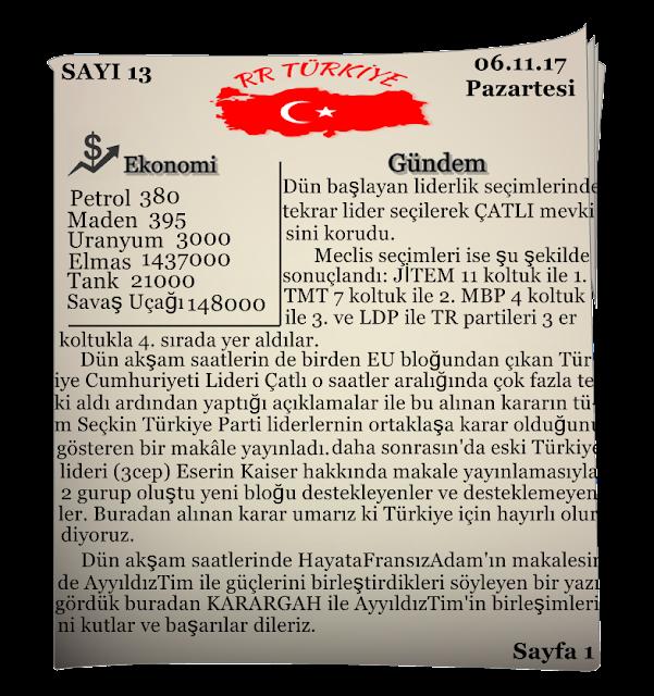 Rival Regions Türkiye  13.sayısı