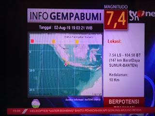 Gempa besar 2 agustus 2019 wilayah banten
