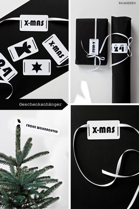 Geschenkanhänger für Weihnachtsgeschenke