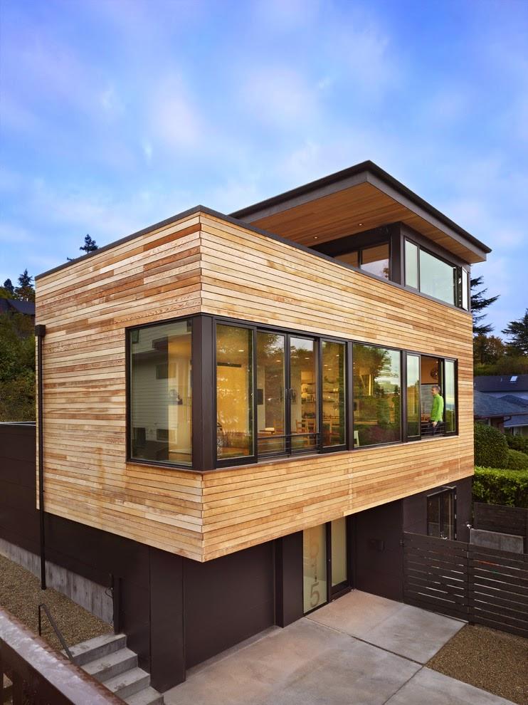Rancangan Desain Rumah Kayu Modern Minimalis yang Hemat Biaya