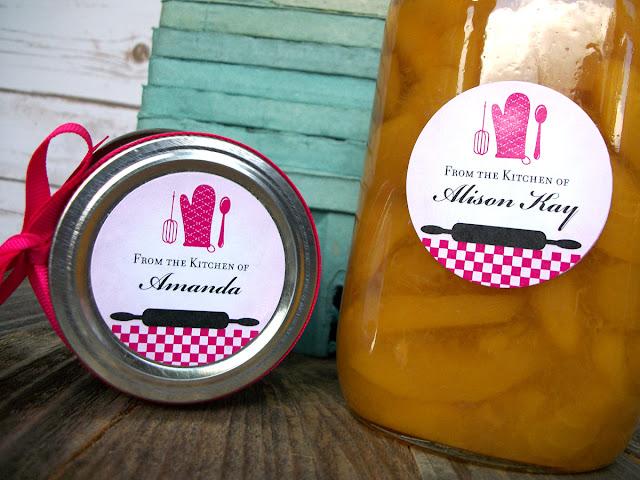 custom hot pink kitchen labels