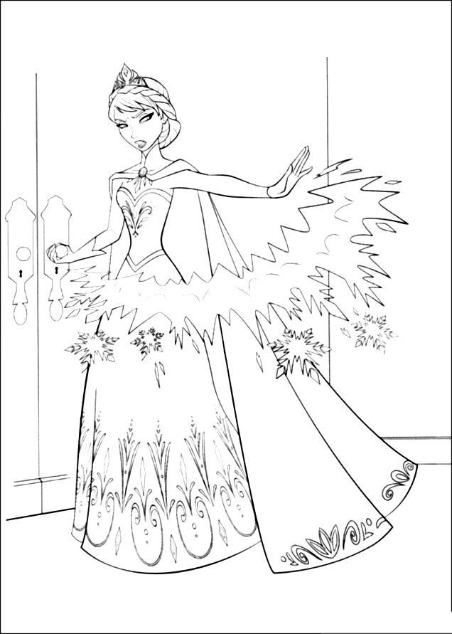 Tranh tô màu Elsa 7