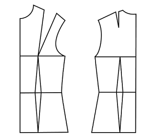 Patrón gratis top con un rectángulo lateral