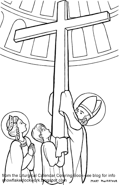Snowflake Clockwork: Exaltation of the Cross coloring page