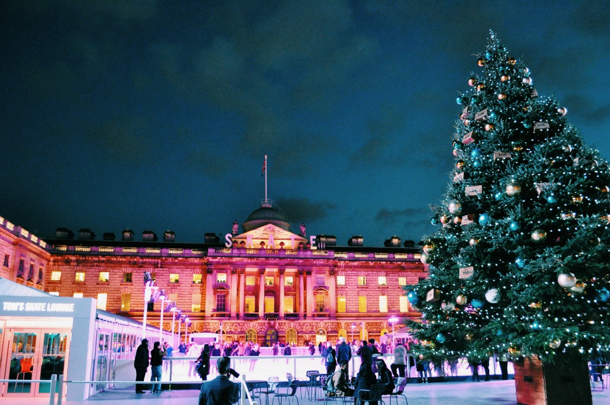 10 things to in London with kids at christmas ice skating somerset house