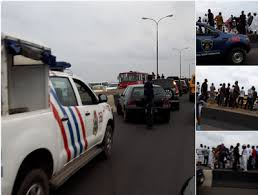 Picture of militants attempts to bomb 3rd mainland Bridge