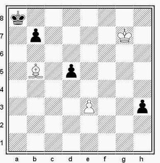 Estudio artístico de ajedrez compuesto por V. Sarychev y V. Israelov (3ª Meción de Honor, Szachy, 1979)