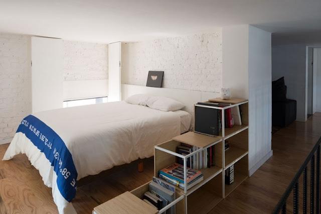 Loft en Córdoba con cama estructura de Ikea chicanddeco