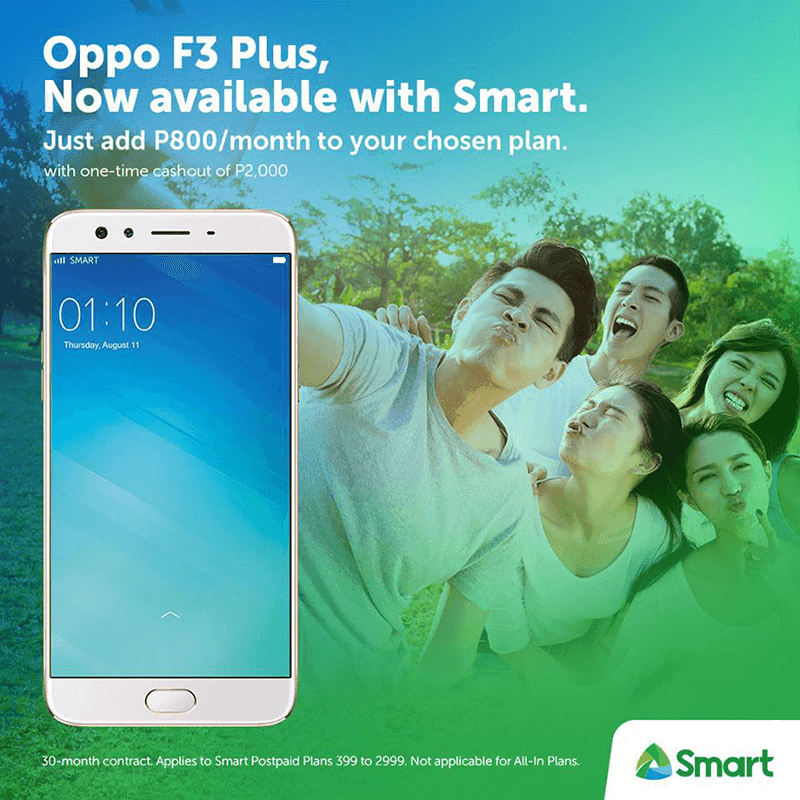 OPPO F3 And F3 Plus Now Available At Smart