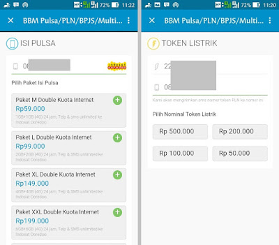 Cara Membeli Pulsa dan Token PLN di Aplikasi BBM Mudah, Cara Mengisi Pulsa dan Bayar Token Listrik PLN di BBM.