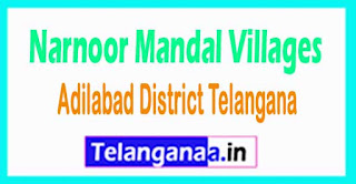 Narnoor Mandal and Villages in Adilabad District Telangana