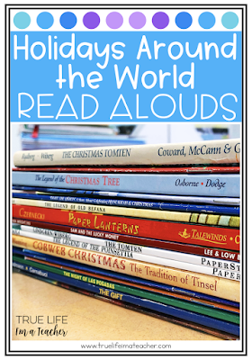 List of read alouds perfect for Holidays Around the World in elementary classrooms.