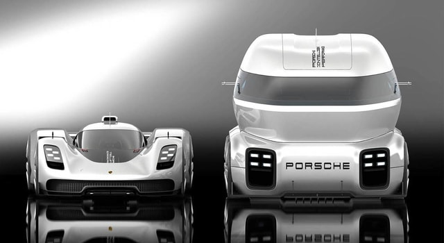 Porsche GT Vision Trac - Fantastic and stunning truck coming from the future