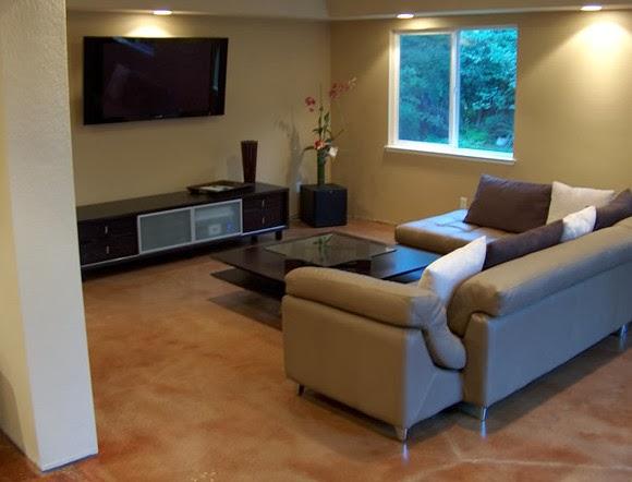 Living room flooring ideas the reasons to choose - Concrete floor living room ...