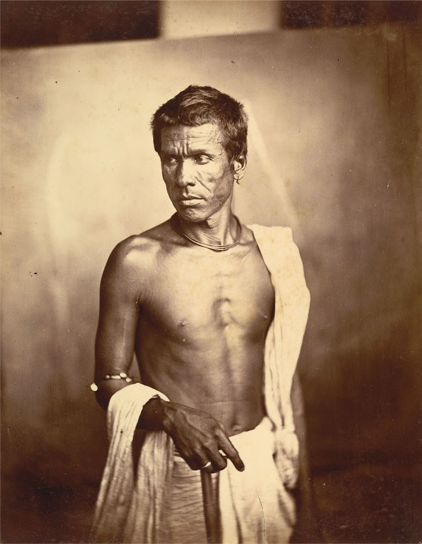 Vintage Portrait Photograph of an Indian Man from Eastern Bengal - 1860's