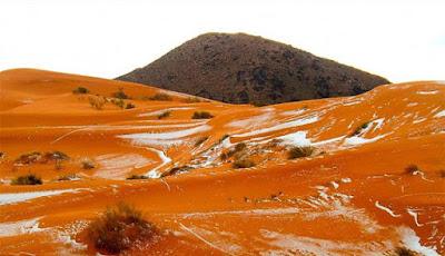 Subhanallah, Di Gurun Sahara Muncul Salju