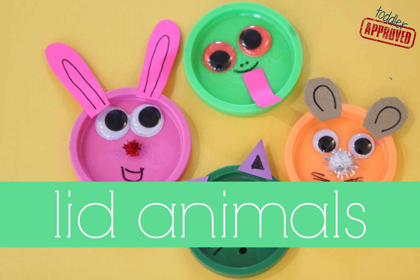 Toddler Approved Lid Animals Mom And Tot Craft Time