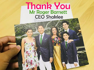 Terima kasih Mr. Roger Barnett, CEO Shaklee Corporation