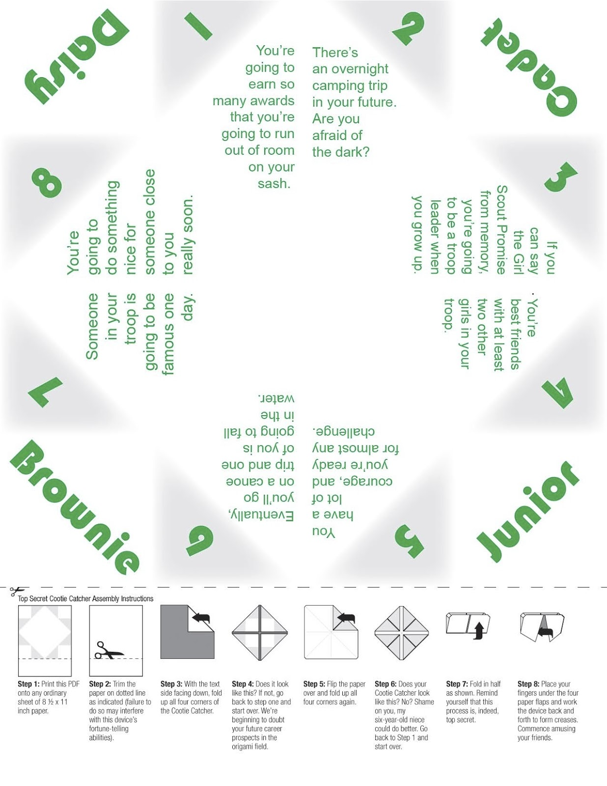 Our Girl Scout Troop Girl Scout Worksheets Web Sites
