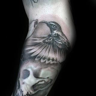 แบบลายสักนก Humming bird
