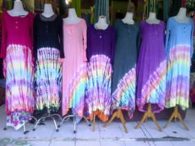 Dress Baju Tiedye Pelangi