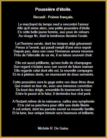Poème français sur l'amour
