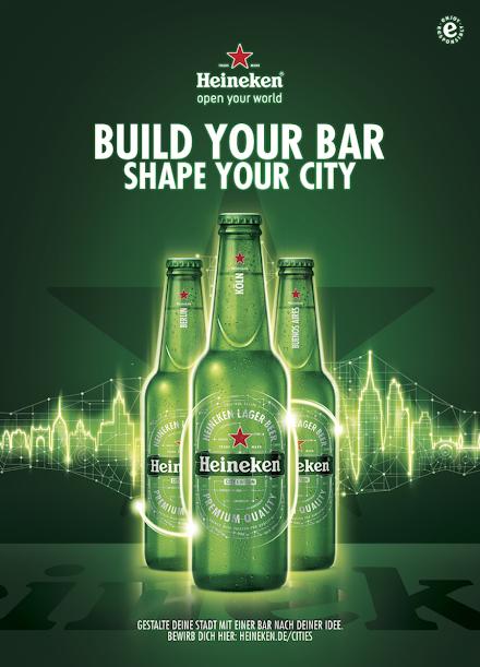 BUILD YOUR BAR - SHAPE YOUR CITY | WERDE TEIL DES HEINEKEN® CITIES PROJEKTES INKLUSIVE VERLOSUNG