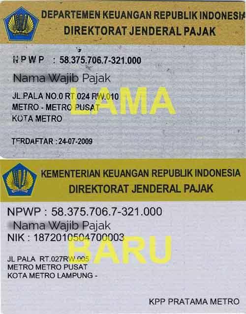 Inilah Contoh NPWP Pribadi dan Badan