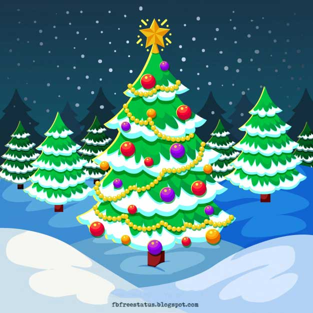 Christmas Tree Cartoon Images Free Download