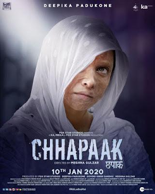 Chhapaak 2020 Hindi Movie Pre-DVDRip 400Mb