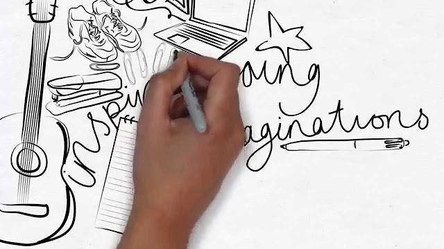 اصنع فيديو تظهر فيه يد ترسم او تكتب ما تريده عبر هاتفك فقط!