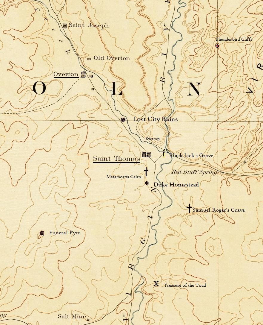 1886 Topo Map of Saint Thomas Nevada Moapa Valley