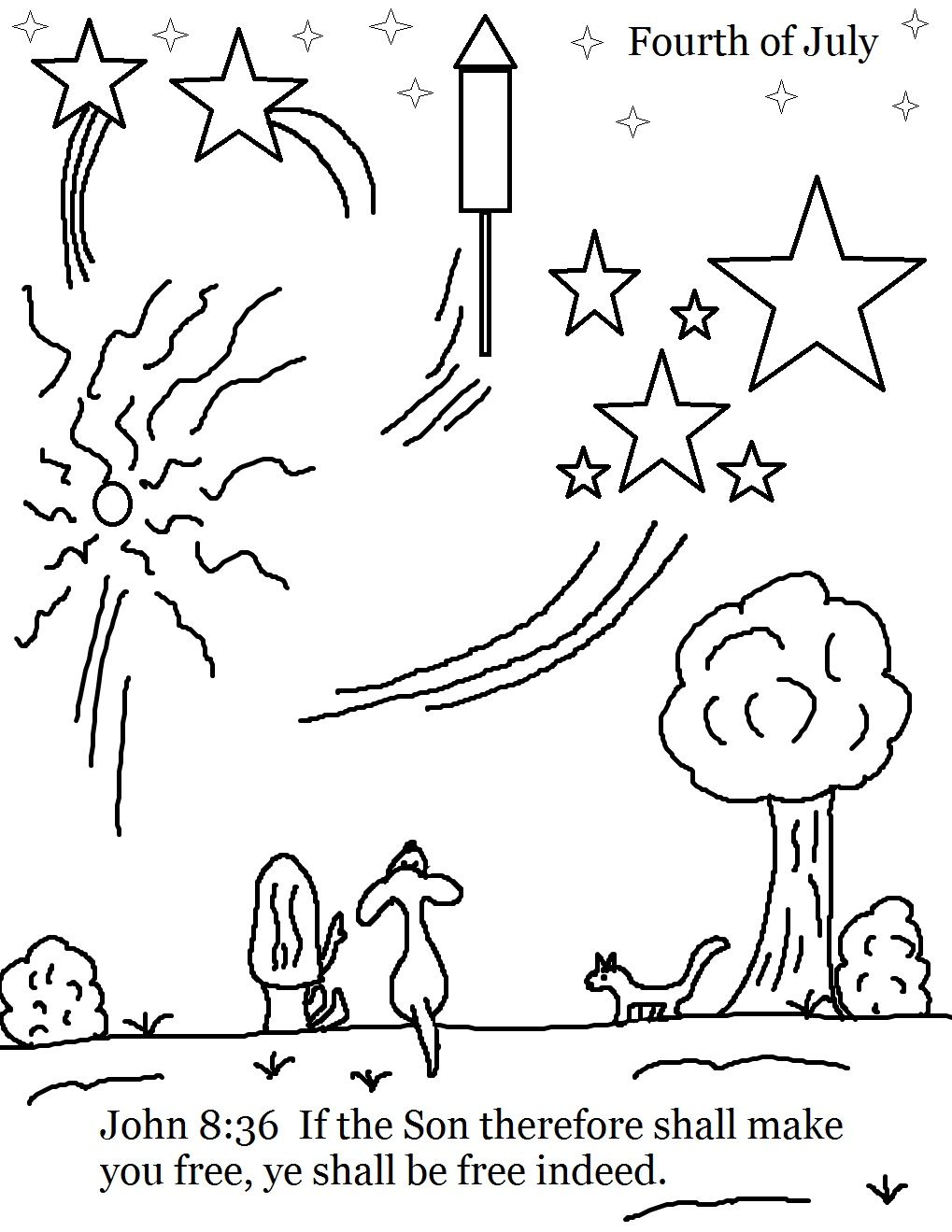 Free coloring pages fourth of july - Fourth Of July Sunday School Lesson