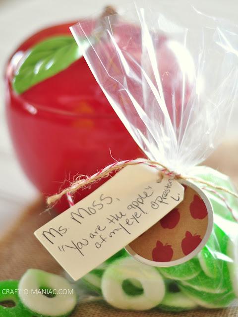 Teacher Appreciation Gift Idea www.craft-o-maniac.com